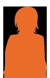 silhouette-fille-orange